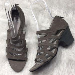 Eileen Fisher Dawson Strappy Nubuck Leather heels